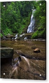 Acrylic Print featuring the photograph Warsaw Falls 2 by Mark Papke