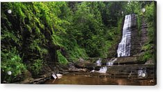 Acrylic Print featuring the photograph Warsaw Falls by Mark Papke