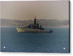 Warship Acrylic Print by Martin Newman