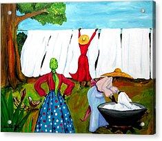 Wash Day Acrylic Print by Diane Britton Dunham