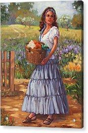 Wash Day Acrylic Print by Dianna Willman
