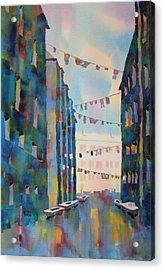 Wash Day In Venice Italy Acrylic Print