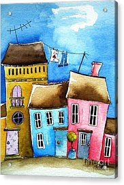 Wash Day Acrylic Print by Lucia Stewart