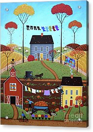Wash Day Acrylic Print by Mary Charles