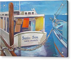Acrylic Print featuring the painting Wash Out by Tony Caviston
