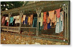 Acrylic Print featuring the photograph Washday Alton Nh by Wayne King