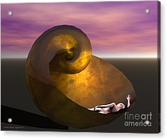 Acrylic Print featuring the digital art Washed Ashore by Sandra Bauser Digital Art