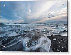 Washed Up Ice Sunset Acrylic Print