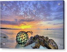 Washed Up In Pensacola Beach Acrylic Print by JC Findley