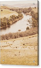 Washes Of Rustic Country Acrylic Print