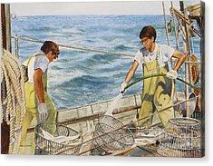 Washing Fish Acrylic Print