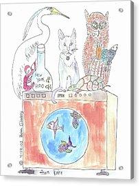 Washing Machine Friends Acrylic Print