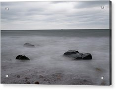 Acrylic Print featuring the photograph Washing Over The Beach by Andrew Pacheco