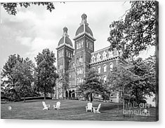 Washington And Jefferson College Old Main Acrylic Print by University Icons
