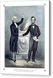 Washington And Lincoln Acrylic Print