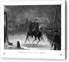 Washington At The Battle Of Trenton Acrylic Print
