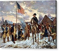 Washington At Valley Forge Acrylic Print