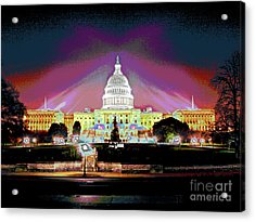 Washington Capitol Sunset Acrylic Print