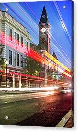Washington County Courthouse At Night Fayetteville Arkansas Acrylic Print