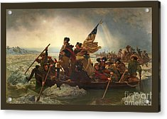 Acrylic Print featuring the photograph Washington Crossing The Delaware by John Stephens