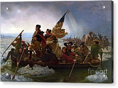 Washington Crossing The Delaware River Acrylic Print