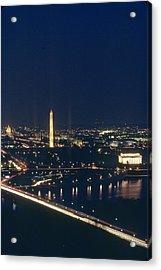 Washington D.c. At Night, Seen Acrylic Print by Kenneth Garrett