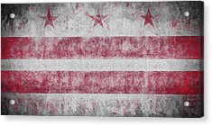 Acrylic Print featuring the digital art Washington Dc City Flag by JC Findley