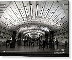 Washington Dc Metro Metro Center Stop Acrylic Print