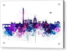 Washington Dc Skyline Acrylic Print by Marian Voicu