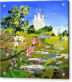 Washington Dc Temple Acrylic Print by Robin Birrell