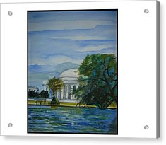 Washington Dc View Acrylic Print by Angela Puglisi