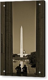 Washington Monument And Capitol #4 Acrylic Print