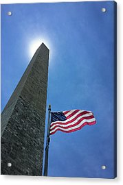 Washington Monument Acrylic Print by Andrew Soundarajan