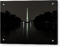 Acrylic Print featuring the photograph Washington Monument At Night by Ed Clark