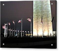 Washington Monument At Night Acrylic Print by Artistic Photos