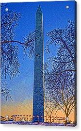 Washington Monument Acrylic Print by Dennis Cox WorldViews