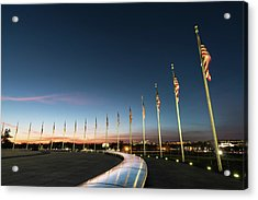 Washington Monument Flags Acrylic Print