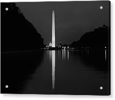 Washington Monument Reflecting Acrylic Print by Artistic Photos