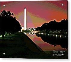 Washington Monument Sunrise 2 Acrylic Print