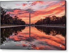 Washington Monument Sunrise Acrylic Print