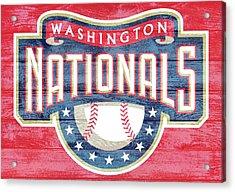 Washington Nationals Barn Door Acrylic Print by Dan Sproul