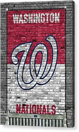 Washington Nationals Brick Wall Acrylic Print