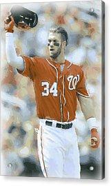Washington Nationals Bryce Harper 2 Acrylic Print by Joe Hamilton