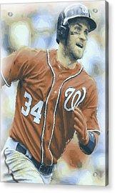 Washington Nationals Bryce Harper 3 Acrylic Print by Joe Hamilton