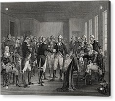 Washington Parting From His Officers At Acrylic Print by Vintage Design Pics