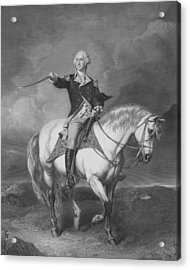 Washington Receiving A Salute At Trenton Acrylic Print by War Is Hell Store