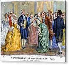 Washington Reception, 1789 Acrylic Print by Granger