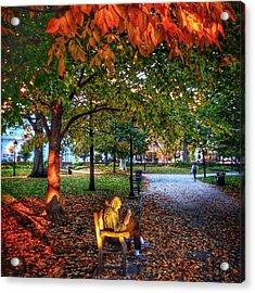 Washington Square Bench Time Acrylic Print