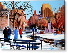 Washington Square Acrylic Print by John Tartaglione