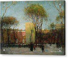 Washington Square New York Acrylic Print by Paul Cornoyer